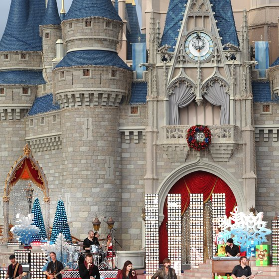 Events at Disneyland are commonly held in front of Sleeping Beauty's Castle.