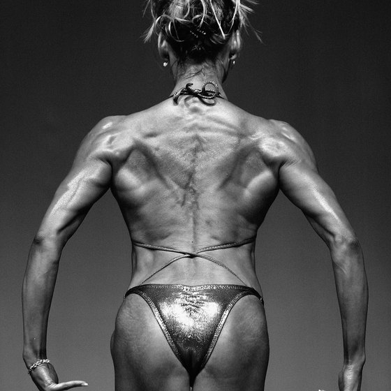 Hard training and a strict diet are paramount in female bodybuilding.
