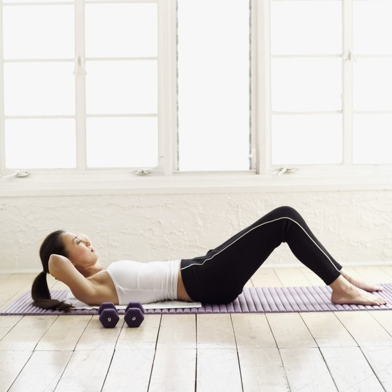 Crunches tone your tummy.