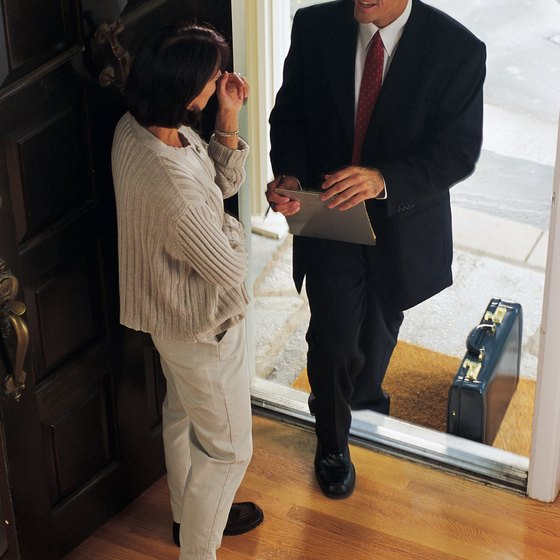 Going door-to-door allows you to connect with customers.