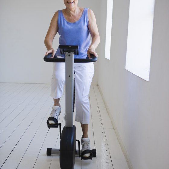 Riding an exercise bike can help you burn fat off your body.