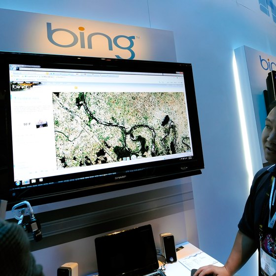 Use a Bing map to display your business location.