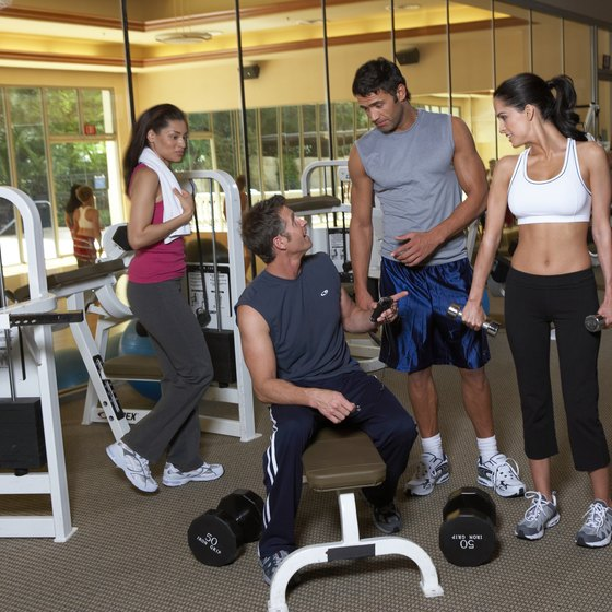 Gym buddies can help keep you accountable in your resistance training program.