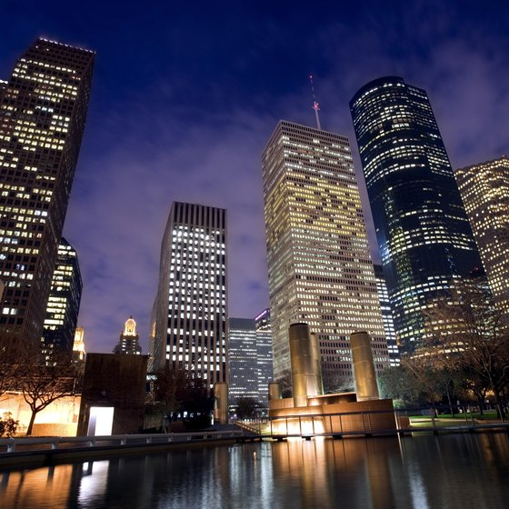 Houston can be especially romantic at night.