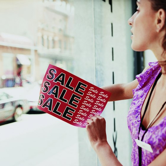 Display signs are a traditional and inexpensive form of advertising for businesses.