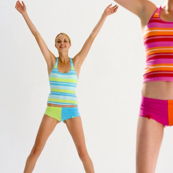 Jumping jacks get your large muscle groups moving.