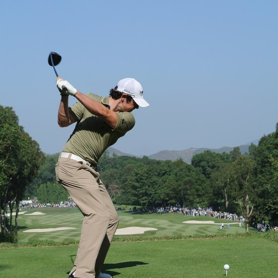 As Rory McIlroy demonstrates, it's OK to bend your left arm just a bit during your swing.