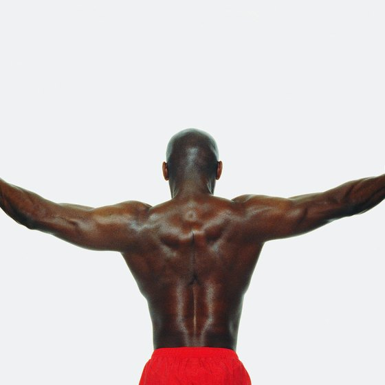Build a V-taper by working on the muscles of your upper back.