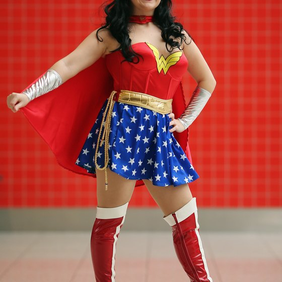 Attendees at ComicCon often dress up as their favorite comic book characters.