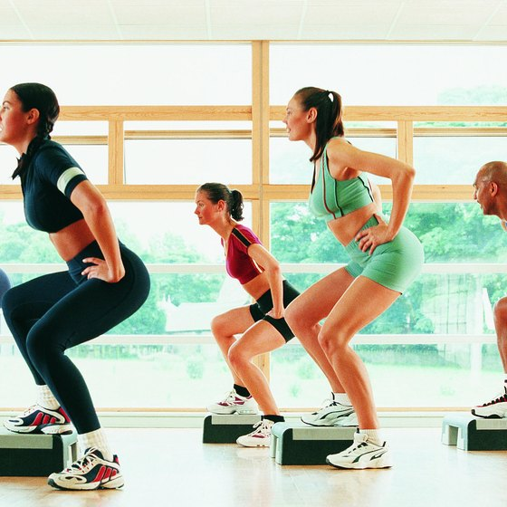 For a new workout, try a group fitness class such as step aerobics.