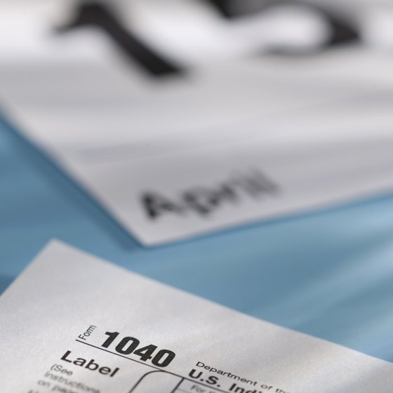 Information on financial reports gets compiled onto tax forms.