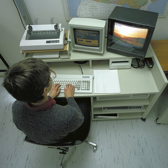 The dot matrix printer and its parallel-port connection served as mainstays of early desktop computing.