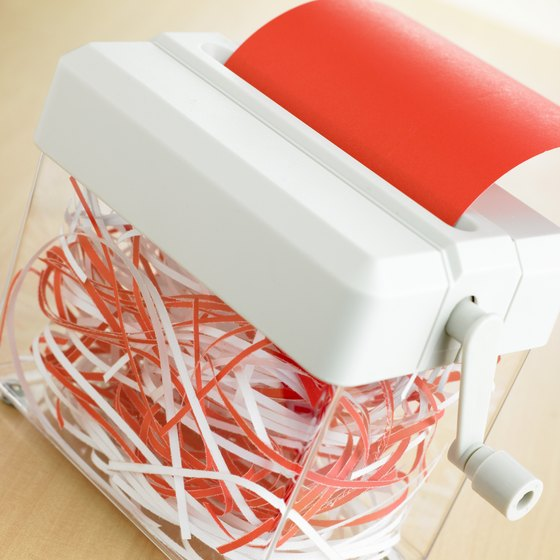 A manual strip-cut paper shredder requires little maintenance.