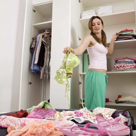 Discarded clothing is perfect for thrift stores.