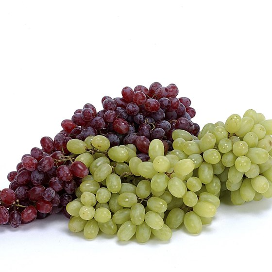 Fresh grapes contain vitamin B-6 and antioxidants.