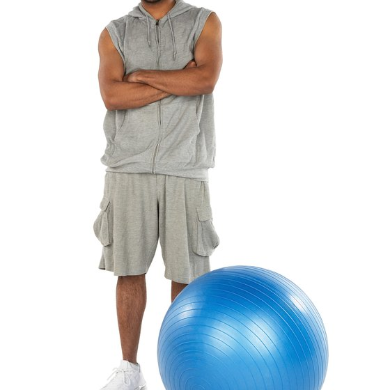 A simple stability ball exercise can strengthen your hamstrings.