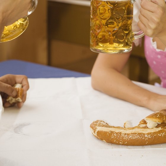 Beer and pretzels are a an affordable must in Germany.