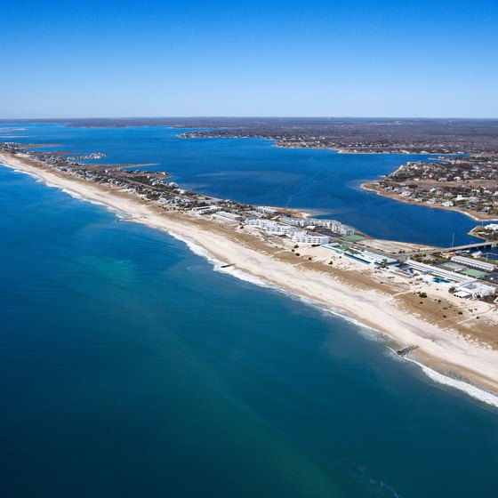Many of the Hamptons' beaches are found on long stretches of barrier islands.