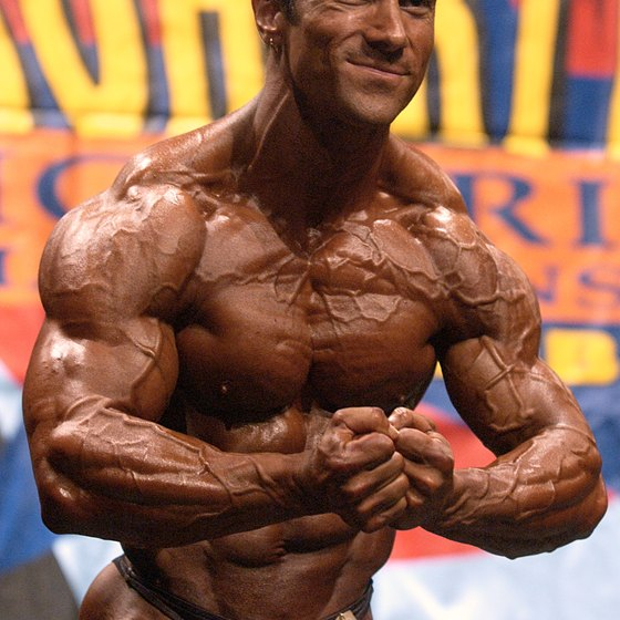 Competitive bodybuilders are extremely vascular.