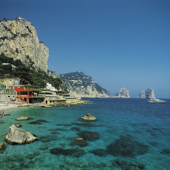 Italy's Mediterranean islands, like the breathtaking Capri, are warm year-round.