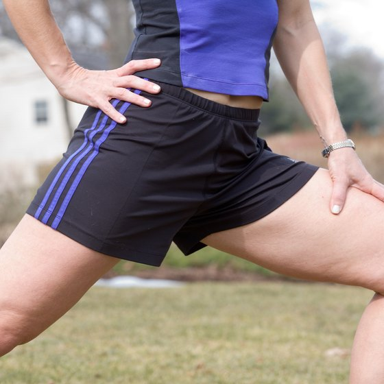 Lunging can help reduce the fat in your thighs and butt.