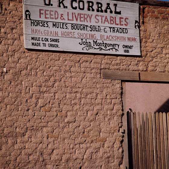 The O.K. Corral is one of Tombstone's most visited attractions.