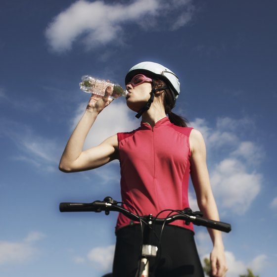 Drink plenty of water to prevent dehydration while cycling.