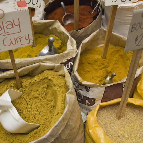 Curry powder is actually a mixture of several spices.