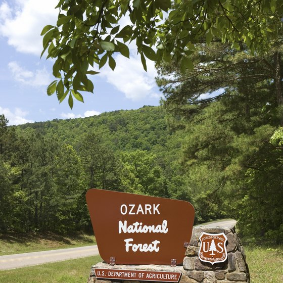 White Rock is in the Ozark National Forest.