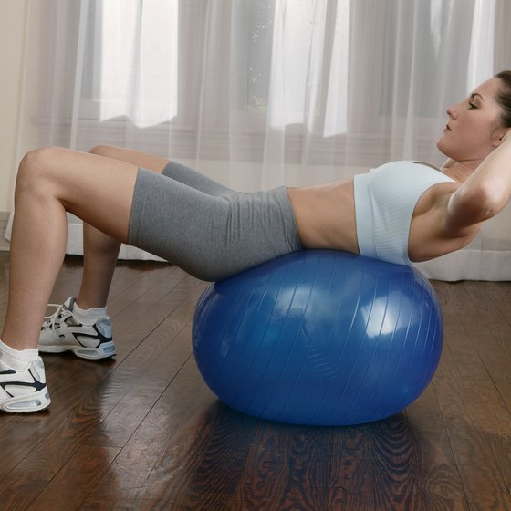 An exercise ball provides better results for getting flat abs.
