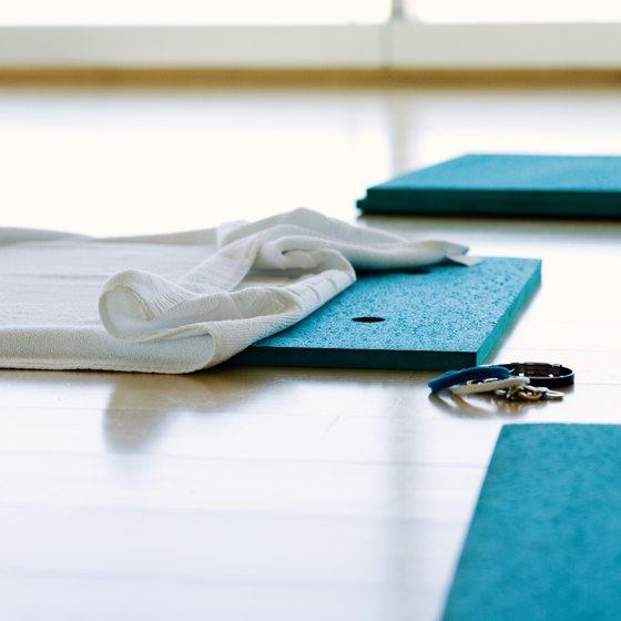 Yoga mats can be personalized cheaply and easily.
