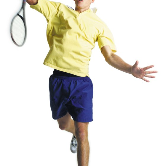 An adult male can burn more than 400 calories playing tennis.