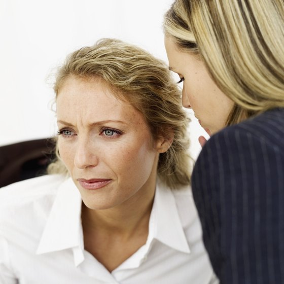 A manager might retaliate by turning others against their co-worker.