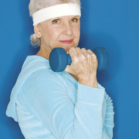 Weight training over 50 will help to shape and tone the upper arms.