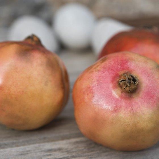 Pomegranates are rich in vitamin C.