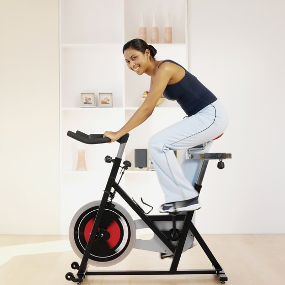 Owning even one piece of exercise equipment, such as a stationary bike, can give you a more consistent reason to exercise.
