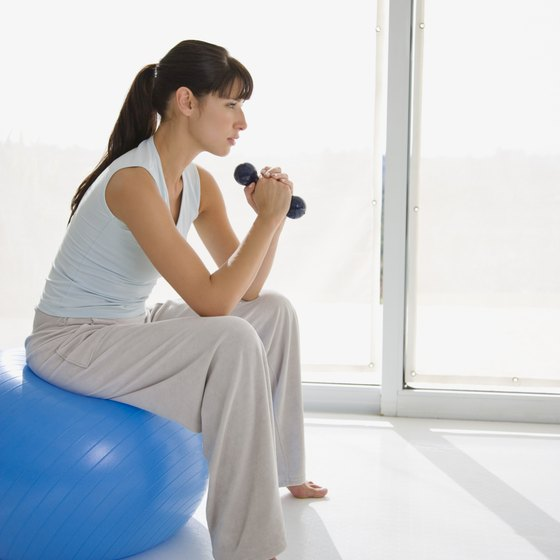A variety of aerobic and strength-training exercises tone your arms and chest.