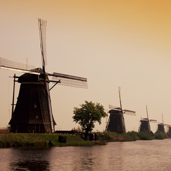 Windmills, like these in Kinderdijk, Holland, are so connected to the Netherlands that they have become a symbol of the country.