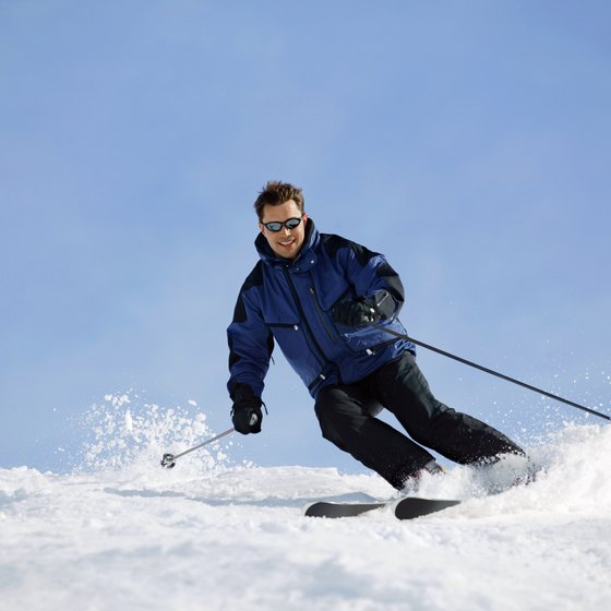 Downhill skiiing could help you retain muscular fitness.