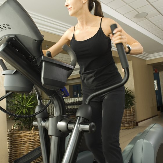Short burst interval workouts can be done on an elliptical machine.
