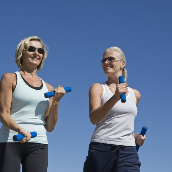 Hand weights enhance the whole-body benefits of walking.