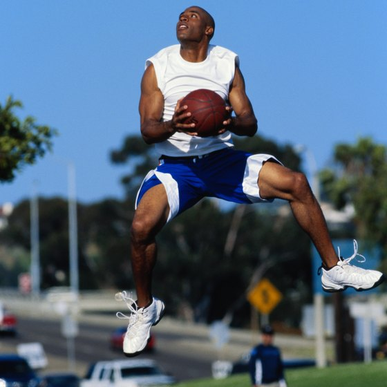 Lunge jumps can help increase your vertical leap.