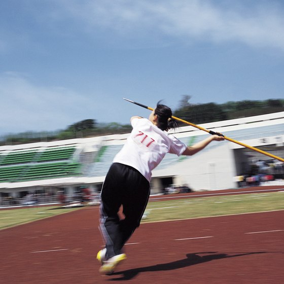 The javelin toss requires power and precision.