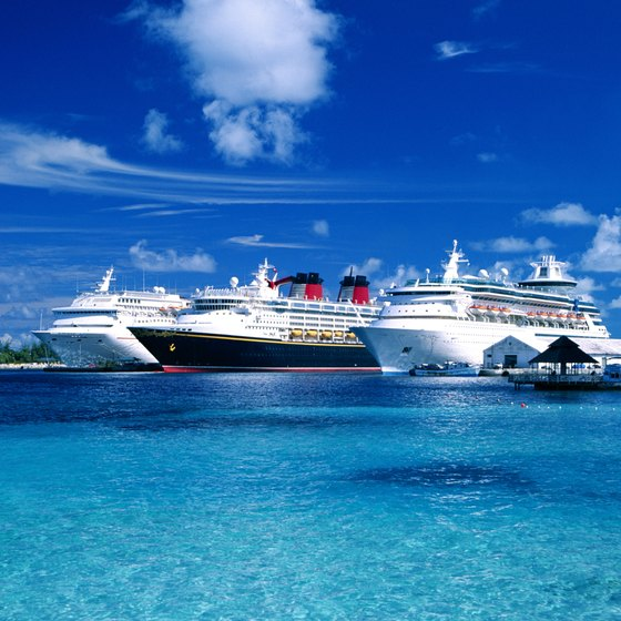 Cruise ships take you from New York to the Bahamas.
