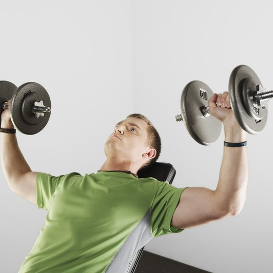 Overhead exercises work multiple muscle groups and burn more calories.
