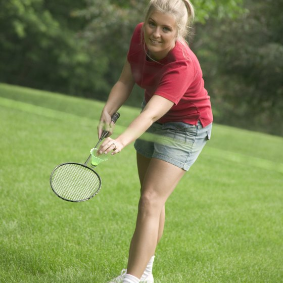 Speedminton is a version of badminton without a net.
