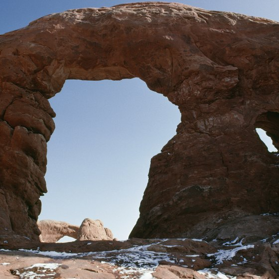 Arches National Park gets its name from unusual rock formations found there.