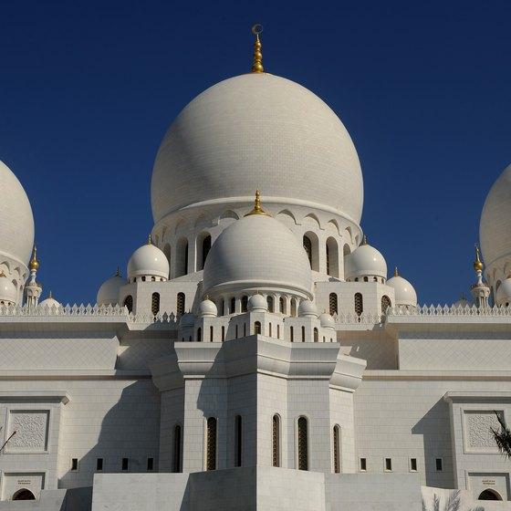 The Sheikh Zayed Grand Mosque is the largest mosque in the UAE.