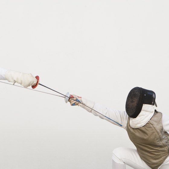 Different fencing maneuvers are used to adapt to an opponent's actions.