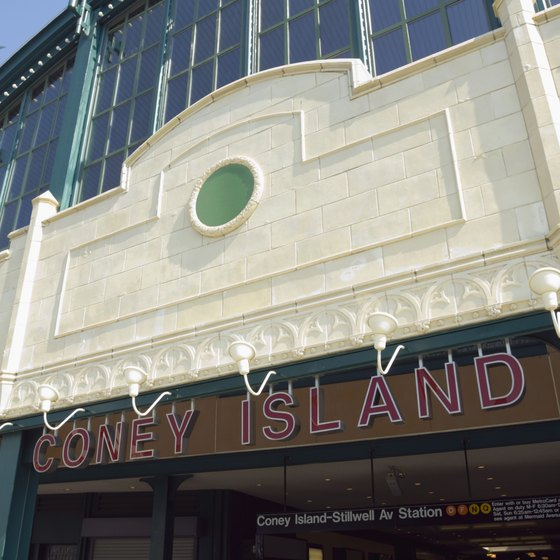 The New York Aquarium is just off the Coney Island boardwalk.
